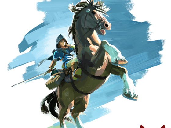 Link mounting a horse - The Legend of Zelda Wii U / NX