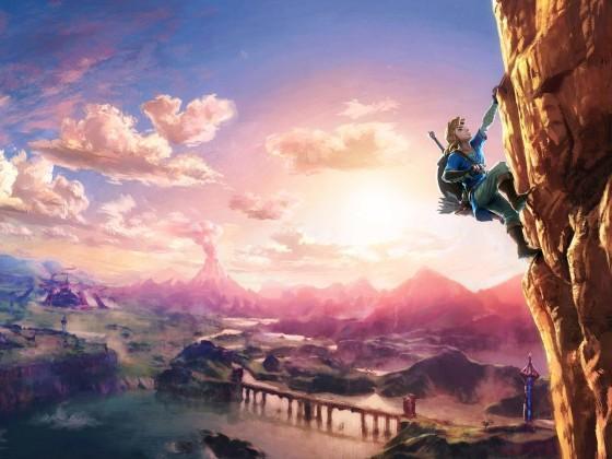 Link Climbing - The Legend of Zelda Wii U / NX
